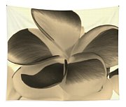 Sepia Bloom Negative Tapestry