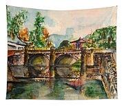 Serene Walkway Tapestry