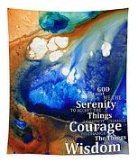 Serenity Prayer 4 - By Sharon Cummings Tapestry