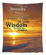Serenity Prayer With Sunset By Sharon Cummings Tapestry