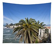 Sestri Levante And Palm Tree Tapestry