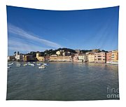 Sestri Levante With Blue Sky Tapestry