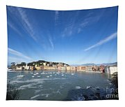 Sestri Levante With Clouds Tapestry