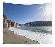 Sestri Levante With The Beach Tapestry