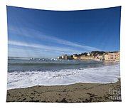 Sestri Levante With Waves Tapestry