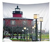 Seven Foot Knoll Lighthouse Tapestry