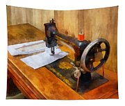 Sewing Machine With Orange Thread Tapestry