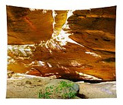 Shades Of Light Shadow And Texture On Cliff Wall Tapestry