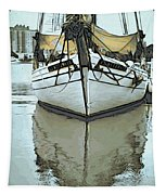 Shadow Of Boat Tapestry