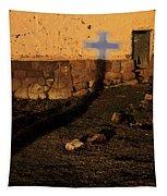 Shadow Of Cross Peru Tapestry