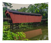 Shaeffer Or Campbell Covered Bridge Tapestry