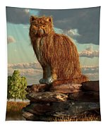Shaggy Cat Tapestry