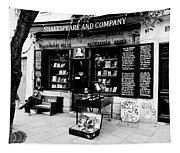 Shakespeare And Company Boookstore In Paris France Tapestry