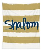 Shalom- Blue With Gold Tapestry