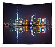 Shanghai Reflections Tapestry