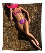 Shannon Pink Hat Tapestry