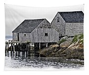Sheds At Peggys Cove Tapestry