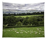 Sheep And More Sheep Tapestry