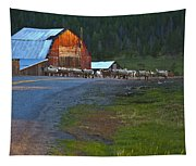 Sheep Crossing Tapestry