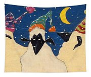 Sheep In Hats Tapestry