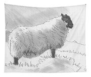 Sheep Sketch Tapestry