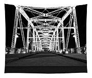 Shelby Street Bridge At Night In Nashville Tapestry
