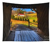 Shenandoah Virginia Covered Bridge Tapestry