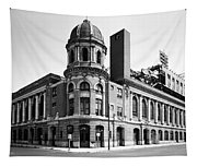 Shibe Park In Black And White Tapestry