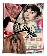 Shih Tzu Art - My Fair Lady Movie Poster Tapestry