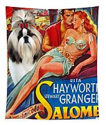 Shih Tzu Art - Salome Movie Poster Tapestry