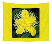 Shimmer Yellow Flower Tapestry