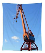 Shipping Industry Crane Tapestry