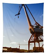 Shipping Industry Dock Tapestry