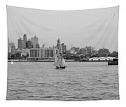 Ships And Boats In Black And White Tapestry