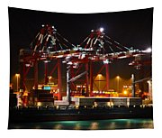 Shipyards  Callao Port Lima Peru Tapestry