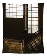 Shopping Cart Stairs At Window Tapestry