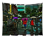 Shopping In The Rain - Knoxville Tapestry