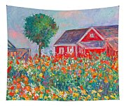 Shore Flowers Tapestry