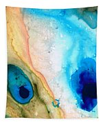 Shoreline - Abstract Art By Sharon Cummings Tapestry