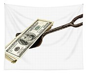 Shovel Of Dollar Tapestry