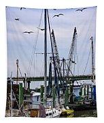 Shrimp Boats At Lazaretto Creek Tapestry