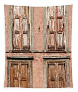 Four Wooden Shutters Tapestry