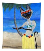 Siamese Queen Of Hawaii Tapestry