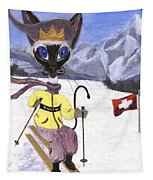 Siamese Queen Of Switzerland Tapestry