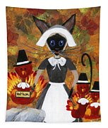 Siamese Queen Of Thanksgiving Tapestry