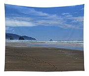 Side By Side Along The Beach Tapestry