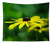 Side View Of A Yellow Flower Tapestry