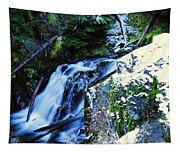 Side View Of Bumping Creek Falls Tapestry