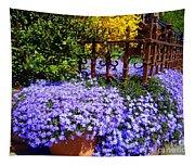 Sidewalk Spring Scene Tapestry