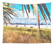 Siesta Key In Fall Tapestry